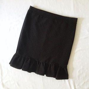 Anthropologie Postmark Basal Flounced Skirt